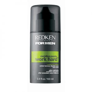 Redken Work Hard Moulding Hair Paste for Men, hairstyling wax
